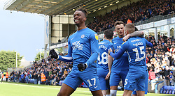 Ivan Toney of Peterborough United celebrates after team-mate Joe Ward scored the opening goal of the game - Mandatory by-line: Joe Dent/JMP - 04/05/2019 - FOOTBALL - ABAX Stadium - Peterborough, England - Peterborough United v Burton Albion - Sky Bet League One