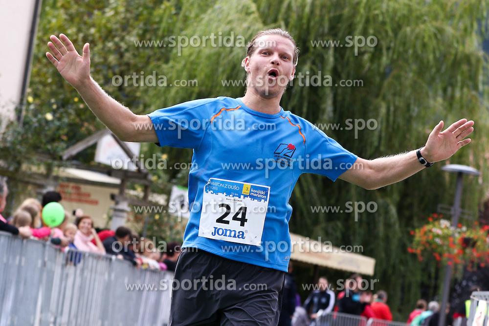 Borut Zalokar competes during 3. Konjiski maraton / 3rd Marathon of Slovenske Konjice, on September 27, 2015 in Slovenske Konjice, Slovenia. Photo by Urban Urbanc / Sportida