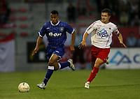 Photo: Maarten Straetemans.<br /> Royal Antwerp v Ipswich Town. Pre Season Friendly. 31/07/2007.<br /> Danny Haynes (left) of Ipswich with Di Gregorio