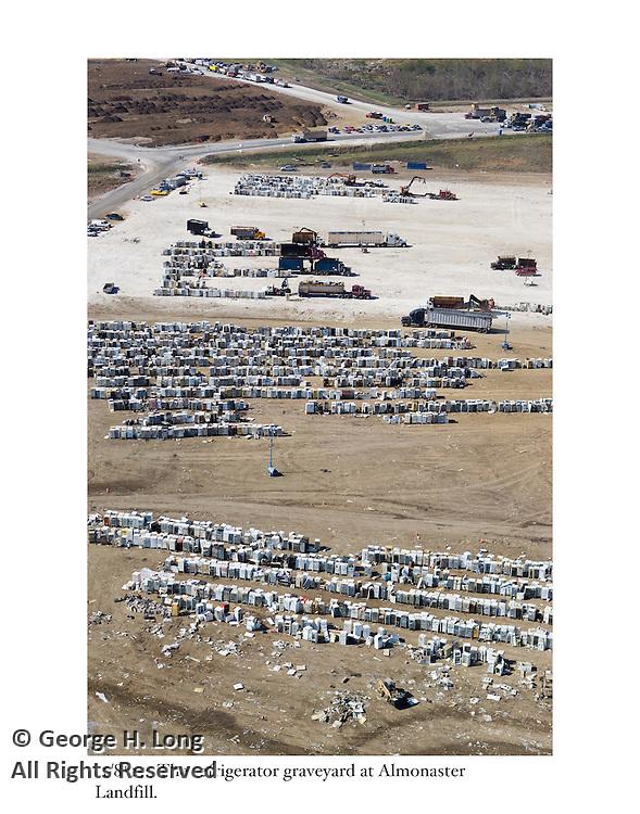 11/8/05:  The refrigerator graveyard at Almonaster Landfill.