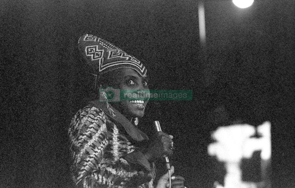 March 25, 2011 - Algiers, Algeria - Miriam MAKEBA  (South African singer and civil rights activist. - .Miriam MAKEBA ; - PanAfrican Festival ; - Algiers ; - 1969  (Credit Image: © Philippe Gras/Le Pictorium Agency via ZUMA Press)