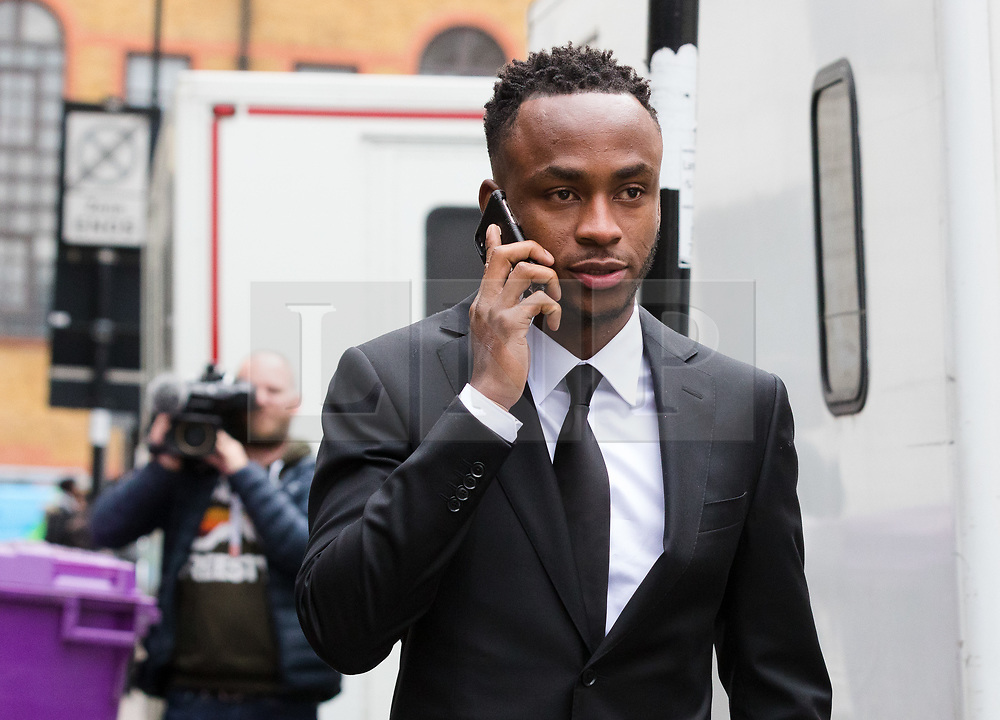 © Licensed to London News Pictures. 06/03/2019. London, UK.  Stoke City footballer, Saido Berahino leaves Highbury Corner Magistrates court. The Stoke City and Burundi striker, Saido Berahino has been charged with drink-driving.  Photo credit: Vickie Flores/LNP