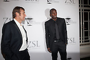 JOCHEN ZEITZ; USAIN BOLT, Fundraising Gala for the Zeitz foundation and Zoological Society of London hosted by Usain Bolt. . London Zoo. Regent's Park. London. 22 November 2012.