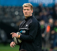 Ospreys' Sam Cross during the pre match warm up<br /> <br /> Photographer Simon King/Replay Images<br /> <br /> Guinness PRO14 Round 19 - Ospreys v Connacht - Friday 6th April 2018 - Liberty Stadium - Swansea<br /> <br /> World Copyright &copy; Replay Images . All rights reserved. info@replayimages.co.uk - http://replayimages.co.uk
