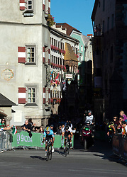 27.09.2018, Innsbruck, AUT, UCI Straßenrad WM 2018, Straßenrennen, Junioren, von Kufstein nach Innsbruck (138,4 km), im Bild Remco Evenepoel (BEL, 1. Platz, Goldmedaille) // gold medalist and world champion Remco Evenepoel of Belgium during the road race of the Junior Men from Kufstein to Innsbruck (138,4 km) of the UCI Road World Championships 2018. Innsbruck, Austria on 2018/09/27. EXPA Pictures © 2018, PhotoCredit: EXPA/ Reinhard Eisenbauer