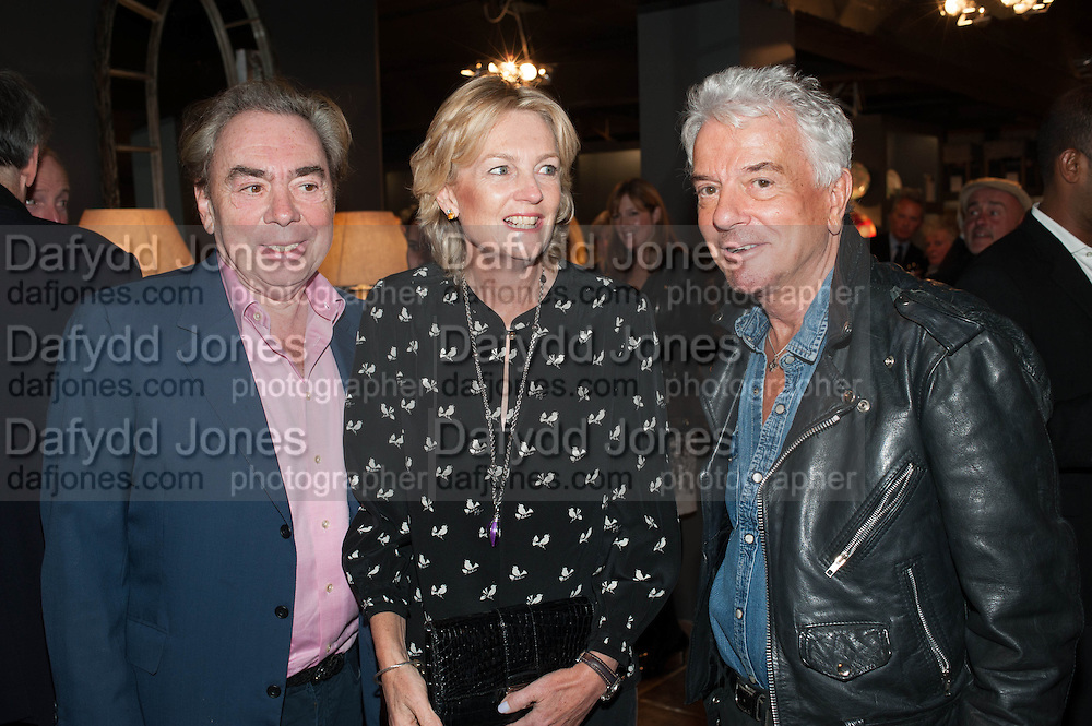 LORD ANDREW LLOYD WEBBER; LADY MADELEINE LLOYD WEBBER; NICKY HASLAM, The launch of Nicky Haslam for Oka. Oka, 155-167 Fulham Rd. London SW3. 18 September 2013.