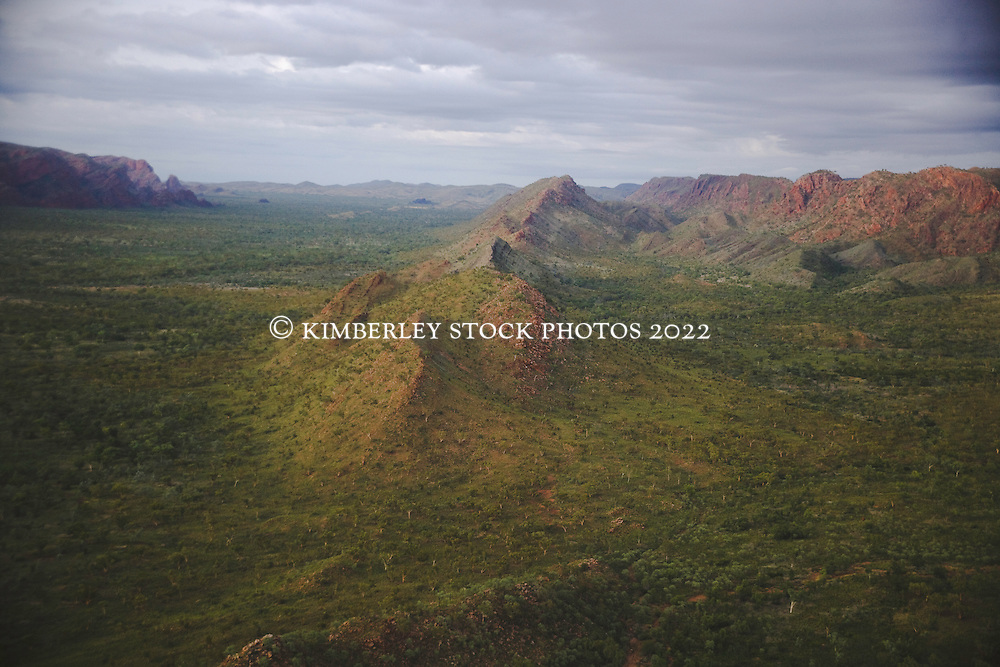 Soft light on the ranges on the way to the Bungle Bungles in Purnululu National Park in Western Australia's East Kimberely region.