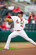 Anthony Ferrara (44) of the Springfield Cardinals delivers a pitch during a game against the Northwest Arkansas Naturals at Hammons Field on July 28, 2013 in Springfield, Missouri. (David Welker)