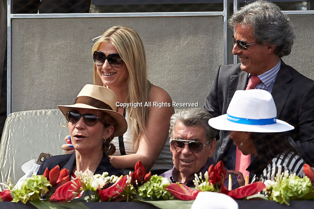 08.05.2014 Madrid, Spain. Royal Family member Elena de Borbon attends to the game between Rafael Nadal of Spain and Jarkko Nieminen of Finland on day 5 of the Madrid Open from La Caja Magica.