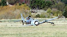 Blenheim-A Focke Wulf 190 crash lands at Omaka Air Show