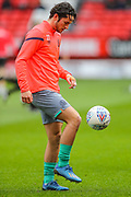 Blackburn Rovers defender Lewis Travis (27) warms up prior to the EFL Sky Bet Championship match between Charlton Athletic and Blackburn Rovers at The Valley, London, England on 15 February 2020.