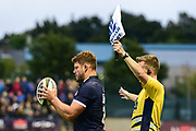 Ross Ford prepares for lineout during the Rugby Friendly match between Edinburgh Rugby and Bath Rugby at Meggetland Sports Compex, Edinburgh, Scotland on 17 August 2018.