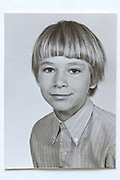 school memory head and shoulder portrait photo 1960s