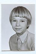 school memory head and shoulder portrait photo 1960s