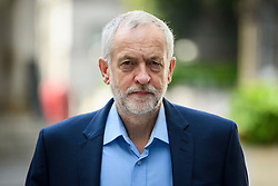 © London News Pictures. 19/06/2016. London, UK. Leader of the Labour Party JEREMY CORBYN arrives at BBC Broadcasting House in London to appear on the Andrew Marr Show. Photo credit: Ben Cawthra/LNP