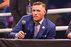 July 14, 2017 - London, London, UK - Lightweight Champion CONOR MCGREGOR appears at Wembley SSE on the final leg of their World Tour in London, UK (Credit Image: © Ray Tang via ZUMA Wire)