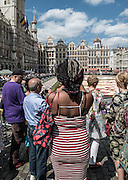 Belgium,  Brussels, tourists at Grand-place de Brussels