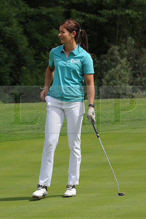 © Licensed to London News Pictures. 01/07/2017. London, UK, World champion Curling skip Eve Muirhead during The 2017 Celebrity Cup golf tournament at the Celtic Manor Resort, Newport, South Wales. Photo credit: Jeff Thomas/LNP