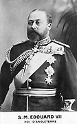 Edward VII (1841-1910) king of Great Britain from 1901. Eldest son of Queen Victoria. Photograph. Woodburytype.