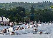 Henley on Thames, England, United Kingdom, Sunday, 07.07.19, Roeivereeniging Studenten Vreie Universiteit Okeanos, Netherlands, NED<br /> lead<br /> Thames Rowing Club A, passing the 1 1/4 mile, one and a quarter mile post, in the Final, of the Thames Challenge CupHenley Royal Regatta,  Henley Reach, [©Karon PHILLIPS/Intersport Images]<br /> <br /> 16:05:55 1919 - 2019, Royal Henley Peace Regatta Centenary,
