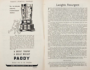 All Ireland Senior Hurling Championship Final,.Brochures,.04.09.1949, 09.04.1949, 4th September 1949, .Tipperary 3-11, Laois 0-3, .Minor Kilkenny v Tipperary, .Senior Tipperary v Laois, .Croke Park, ..Advertisements, Paddy Whisky Cork Distilleries Co Ltd, ..Articles, Laoighis Resurgent, .