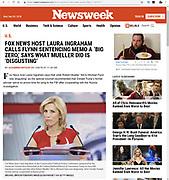 Newsweek - December 5, 2018. Laura Ingraham speaking at CPAC 2018.