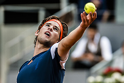 May 14, 2017 - Madrid, Madrid, Spain - DOMINIC THIEM (AUT) serves the ball to Rafael Nadal (ESP) in the final of the 'Mutua Madrid Open' 2017. Nadal won 7:6, 6:4 (Credit Image: © Matthias Oesterle via ZUMA Wire)