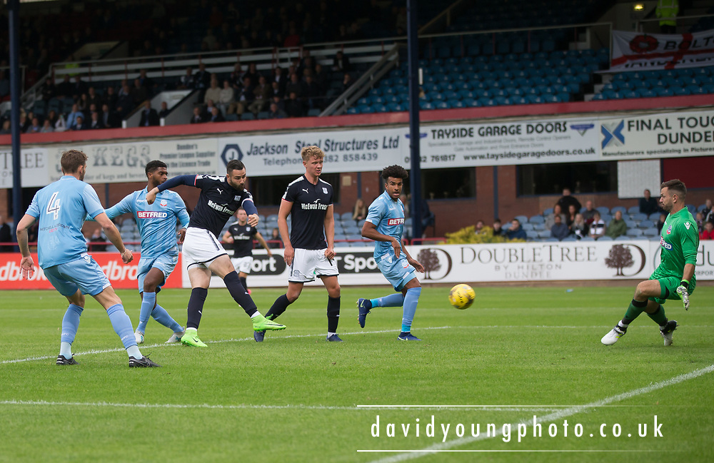 Bolton Wanderers' Mark Howard saves a great chance for Dundee's Marcus Haber - Dundee v Bolton Wanderers pre-seson friendly at Dens Park, Dundee, Photo: David Young<br /> <br />  - © David Young - www.davidyoungphoto.co.uk - email: davidyoungphoto@gmail.com