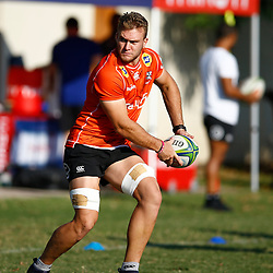 DURBAN, SOUTH AFRICA - MAY 21: Wian Vosloo of the Cell C Sharks during the Cell C Sharks training session at Jonsson Kings Park on May 21, 2019 in Durban, South Africa. (Photo by Steve Haag/Gallo Images)