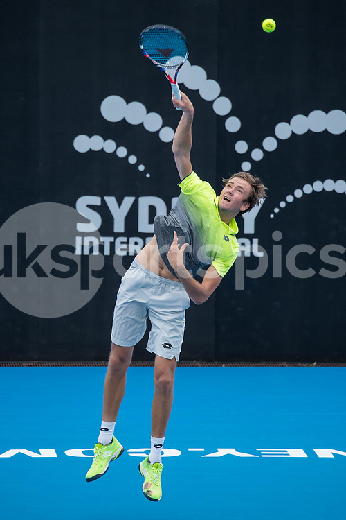 Daniil Medvedev of Russia playing Paolo Lorenzi of Italy in the Quarter Finals during the Sydney International 2018 at Sydney Olympic Park Tennis Centre, Sydney, Australia on 11 January 2018. Photo by Peter Dovgan.