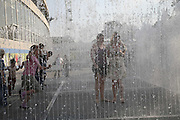 Jamie and Francie Martin, Appearing Rooms .  Jeppe Hein  , SOUTH BANK. 29 JULY 2006. JONE TIME USE ONLY - DO NOT ARCHIVE  © Copyright Photograph by Dafydd Jones 66 Stockwell Park Rd. London SW9 0DA Tel 020 7733 0108 www.dafjones.com