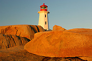 North America, Canada, Maritimes, East, Nova Scotia, Peggys Cove, Lighthouse