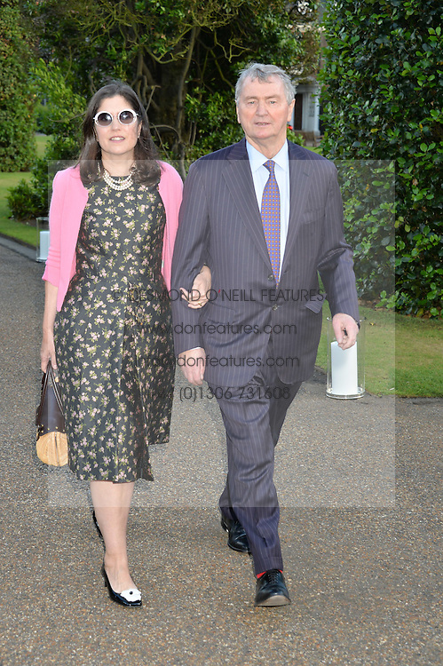 STEVEN & KIMBERLY QUINN at The Ralph Lauren & Vogue Wimbledon Summer Cocktail Party at The Orangery, Kensington Palace, London on 22nd June 2015.  The event is to celebrate ten years of Ralph Lauren as official outfitter to the Championships, Wimbledon.