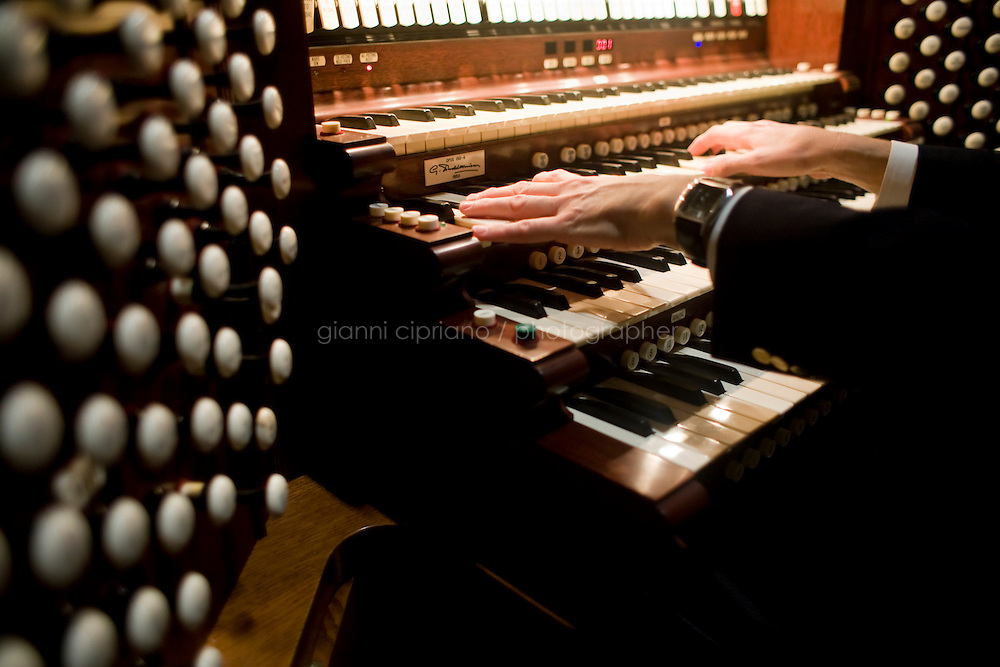 25 November, 2008. New York, NY. Bruce Neswick, the director of music of the Cathedral of St. John the Divine, tests the &quot;new&quot; organ. The organ at the Cathedral of St. John the Divine, heavily damaged in a fire in 2001, has been rebuilt. The organ has been tuned for the last couple of weeks.  &copy;2008 Gianni Cipriano for The New York Times<br /> cell. +1 646 465 2168 (USA)<br /> cell. +1 328 567 7923 (Italy)<br /> gianni@giannicipriano.com<br /> www.giannicipriano.com