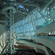 Canadian Museum for Human Rights (CMHR). Interior showing cloud facade<br /> Winnipeg<br /> Manitoba<br /> Canada