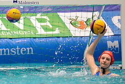 20-01-2012 WATERPOLO: EC HUNGARY - NETHERLANDS: EINDHOVEN<br /> European Championships Hungary - Netherlands / Mikasa ball item water polo goal<br /> ©2012-FotoHoogendoorn.nl