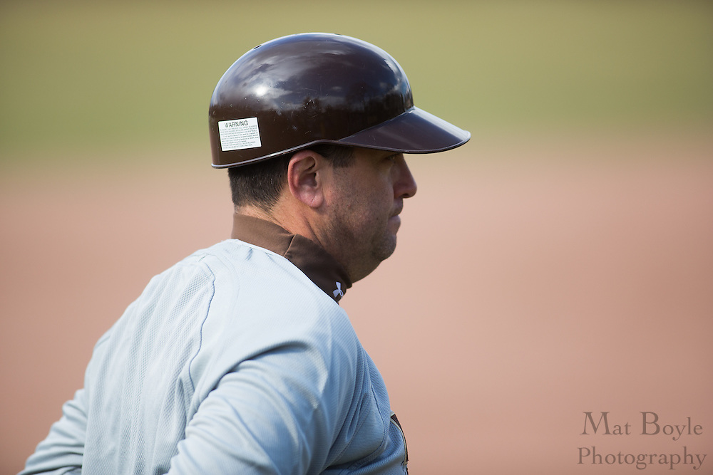 Rowan University Baseball Head Coach Juan Ranero - Penn State Abington Baseball at Rowan University at Rowan University in Glassboro, NJ on Wednesday March 13, 2013. (photo / Mat Boyle)