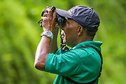Birding and nature tour guide Newton George at Tobago Main Ridge Forest Reserve, a UNESCO World Heritage Site; Trinidad and Tobago.