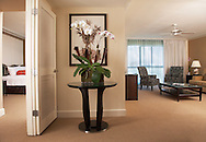 Interior room photograph of a suite in the Palms Hotel, Miami Beach.