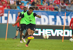 CHARLOTTE, USA - Friday, August 1, 2014: Liverpool's Jordon Ibe during a training session at the Bank of America Stadium on day twelve of the club's USA Tour. (Pic by David Rawcliffe/Propaganda)