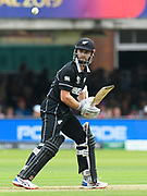 Kane Williamson of New Zealand batting during the ICC Cricket World Cup 2019 Final match between New Zealand and England at Lord's Cricket Ground, St John's Wood, United Kingdom on 14 July 2019.