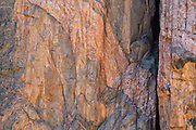 "Big Wall climber Madaleine Sorkin leading the first pitch of ""Qualgeist,"" 12b, Black Canyon of the Gunnison."