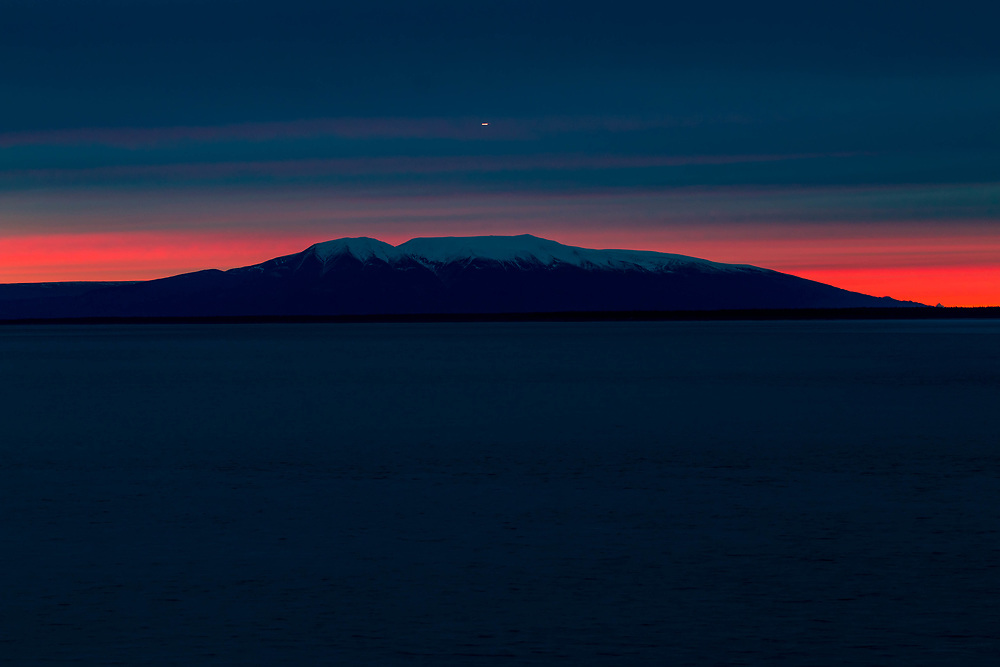 Mt Susitna, sunset from Pt. Woronzof