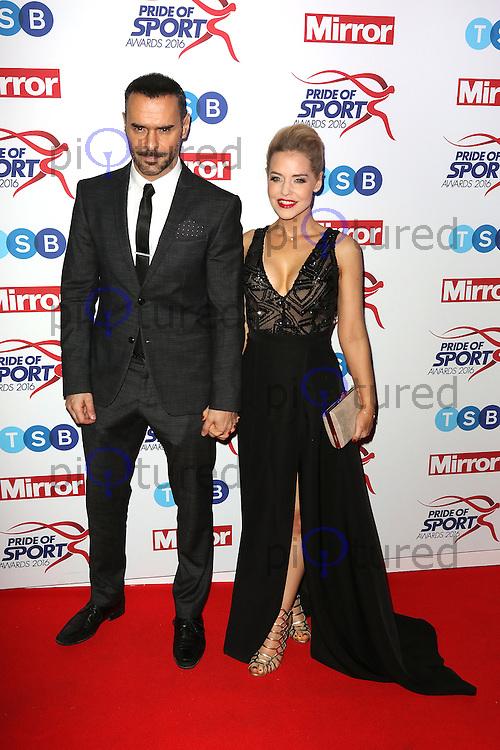 Stephanie Waring, Michael Greco, Pride of Sport Awards, Grosvenor House Hotel, London UK, 07 December 2016, Photo by Richard Goldschmidt