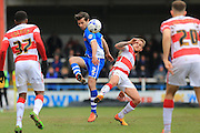 Joe Rafferty, Andy Williams during the Sky Bet League 1 match between Rochdale and Doncaster Rovers at Spotland, Rochdale, England on 2 April 2016. Photo by Daniel Youngs.