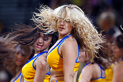 Mar 16, 2012; Oakland, CA, USA; Golden State Warriors cheerleaders perform during the fourth quarter against the Milwaukee Bucks at Oracle Arena. Milwaukee defeated Golden State 120-98. Mandatory Credit: Jason O. Watson-US PRESSWIRE