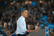 President Obama speaks to a crowd of 14,000 people on the Green of Ohio University. Photo by Ben Siegel/ Ohio University
