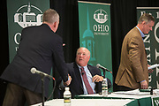 Candidates for Ohio's 15th congressional district Rick Neal and Steve Stivers square off in a debate in Nelson Commons at Ohio University on Oct. 30, 2018. <br /> Photo by Hannah Ruhoff