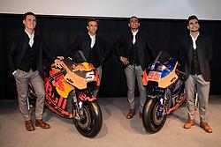 12.02.2019, Munderfing, AUT, MotoGP, Teampräsentation KTM Factory Racing, im Bild v.l. Pol Espargaro (SPA) Moto GP, Johann Zarco (FRA) Moto GP, Hafizh Syahrin (MYS) Moto GP, Miguel Oliveira (POR) Moto GP // during the presentation of KTM factory racing for the upcoming Season in Munderfing, Austria on 2019/02/12. EXPA Pictures © 2019, PhotoCredit: EXPA/ Reinhard Eisenbauer