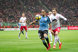 November 10, 2017 - Warsaw, Poland - Mauricio Lemos (U19) and Grzegorz Krychowiak (P10) during the international friendly soccer match between Poland and Uruguay at the PGE National Stadium in Warsaw, Poland on 10 November 2017  (Credit Image: © Mateusz Wlodarczyk/NurPhoto via ZUMA Press)